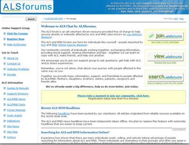 ALSForums - Screenshot - Homepage