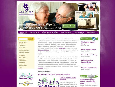 ALSOntario - Screenshot - Homepage