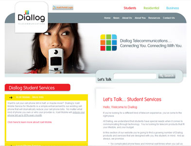 Diallog - Screenshot - Homepage