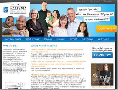Dystonia - Screenshot - Homepage