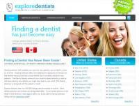 ExploreDentists - Screenshot - Homepage