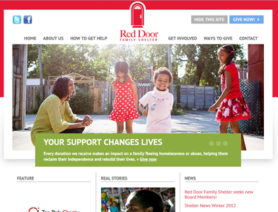 RedDoor New - Screenshot - Homepage