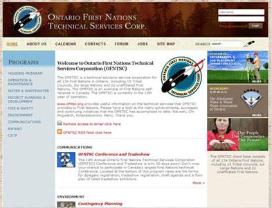 OFNTSC - Screenshot - Homepage