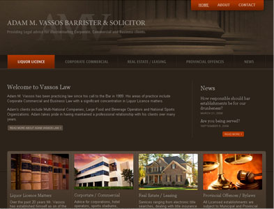 Vassos Law - Screenshot - Homepage